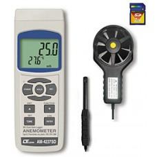 Thiết bị đo tốc độ gió, lưu lượng gió, độ ẩm, nhiệt độ môi trường AM-4237SD