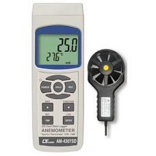 Thiết bị đo tốc độ gió, lưu lượng gió, nhiệt độ môi trường AM-4307SD