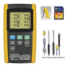 Máy đo nhiệt độ 12 kênh LUTRON BTM-4208SD