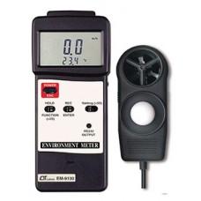 Thiết bị đo tốc độ gió, ánh sáng, nhiệt độ, độ ẩm môi trường (4 in 1) LUTRON EM-9100