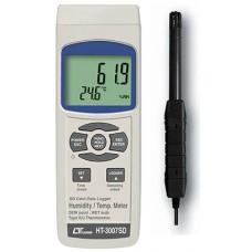 Thiết bị đo nhiệt độ, độ ẩm môi trường, nhiệt độ điểm sương LUTRON HT-3007SD