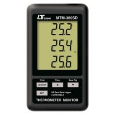 Máy đo nhiệt độ 3 kênh, ghi dữ liệu LUTRON MTM-380SD