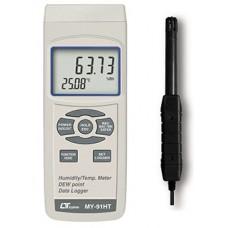 Máy đo nhiệt độ, độ ẩm, nhiệt độ điểm sương dataloger LUTRON MY-91HT