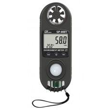 Thiết bị đo tốc độ gió, lưu lượng gió, ánh sáng, độ ẩm, nhiệt độ môi trường 9 in 1 Lutron SP-8001